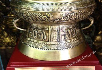 Trống đồng quà tặng được đúc từ đồng nguyên khối làm quà tặng ý nghĩa