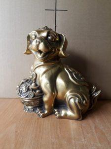 Tượng chó phong thủy bằng đồng, giá bán linh vật phong thủy bằng đồng
