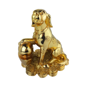 Quà tặng phong thủy,tượng thiên cẩu mạ vàng
