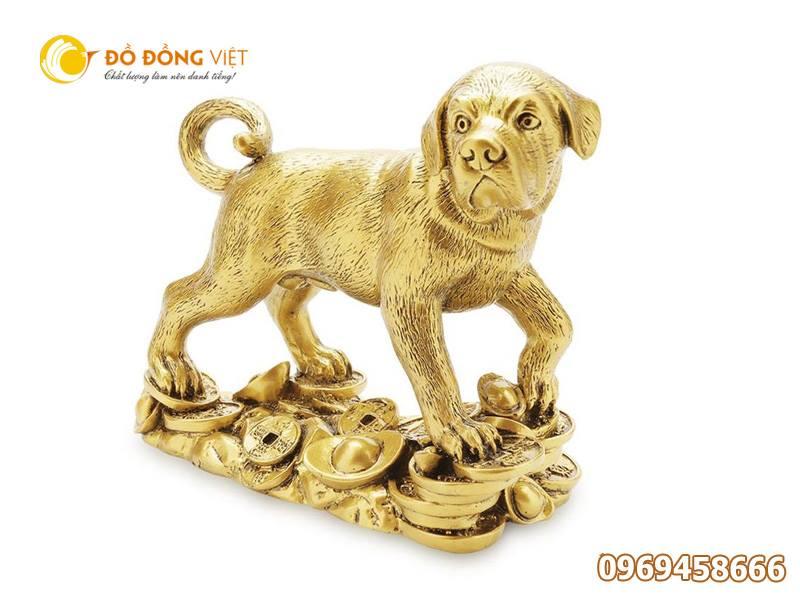 Tượng chó phong thủy bằng đồng, quà tặng linh vật0