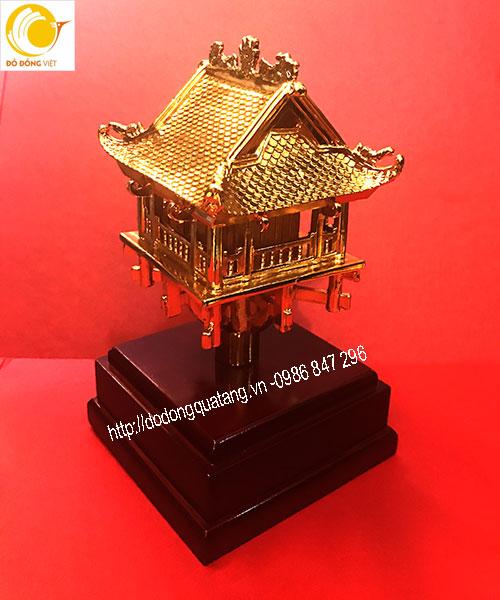 Tượng đồng chùa một cột mạ vàng 20cm làm quà tặng