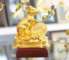Quà tặng Tết 2020- tượng chuột phong thủy, giá bán linh vật  phong thủy