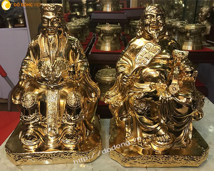 Tượng đồng mạ vàng thần tài – ông địa thờ cúng0