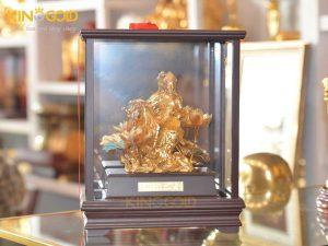 Tượng văn thù bồ tát mạ vàng 24k- quà tặng tâm linh