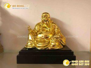 Quà tặng tâm linh, tượng Phật di lặc mạ vàng 24k