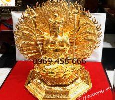 Tượng Phật thiên thủ thiên nhãn bằng đồng vàng