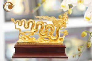Địa chỉ bán biểu tượng rồng thời Lý mạ vàng 24k