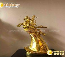 Địa chỉ bán tượng thánh gióng bằng đồng mạ vàng