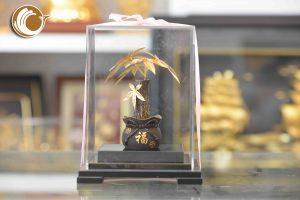 Cây kim ngân bằng vàng lá 24k, quà tặng khách hàng cao cấp