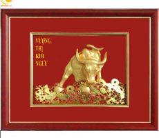 Tranh tượng bò phố wall quà tặng ngành tài chính chứng khoán